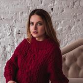 фото: Одежда (бордовый свитер)