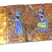 Чехол для планшета универсальный Этно точечная роспись