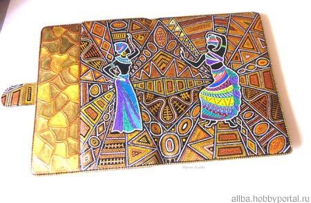 Чехол для планшета универсальный Этно точечная роспись ручной работы на заказ