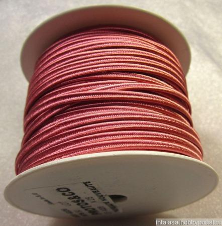 Сутаж греческий, 4 мм, розовый ручной работы на заказ