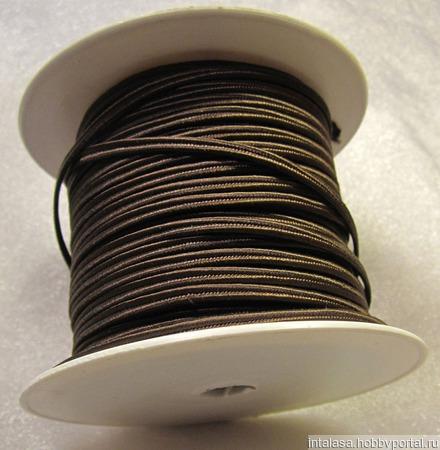 Сутаж греческий, 4 мм, темно-коричневый ручной работы на заказ