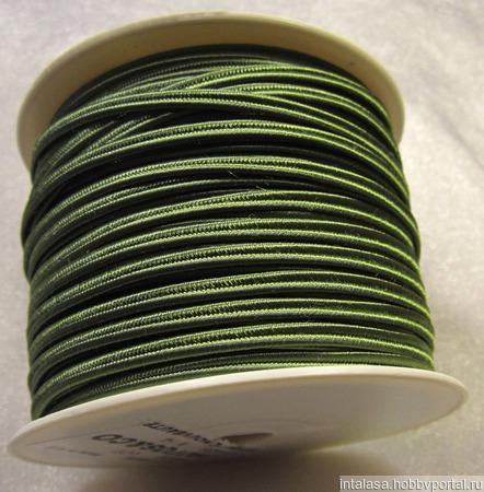 Сутаж греческий, 4 мм, хаки ручной работы на заказ