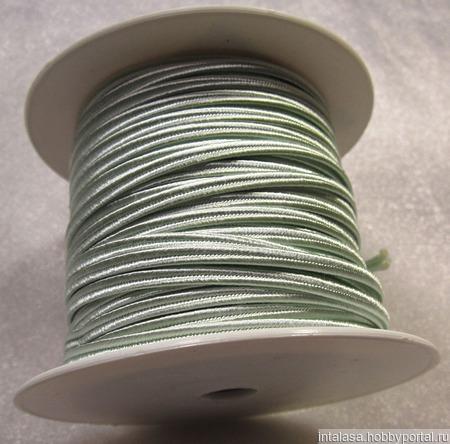 Сутаж греческий, 4 мм, мятный ручной работы на заказ
