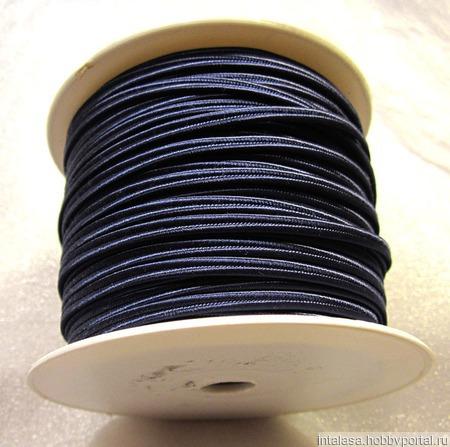 Сутаж греческий, 4 мм, темно-синий ручной работы на заказ