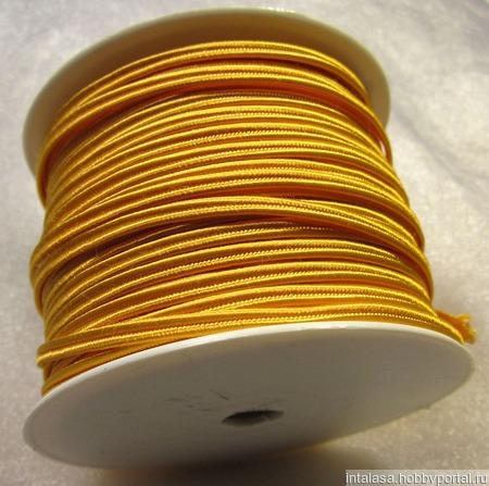 Сутаж греческий, 4 мм, оранжевый ручной работы на заказ