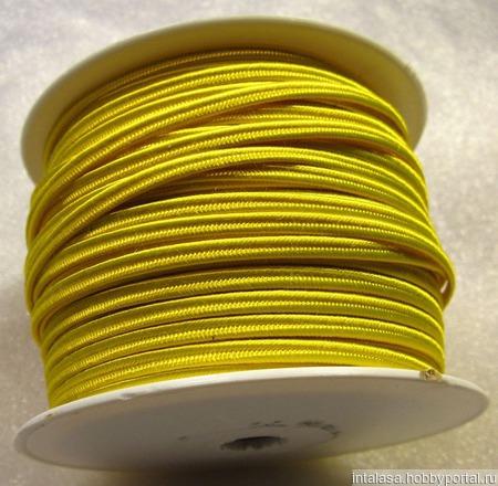 Сутаж греческий, 4 мм, желтый ручной работы на заказ