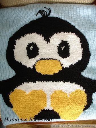 """Детский плед """" Пингвиненок"""" ручной работы на заказ"""