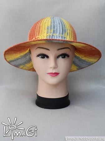 """Описание вязания Шляпа """"Градиент"""" ручной работы на заказ"""