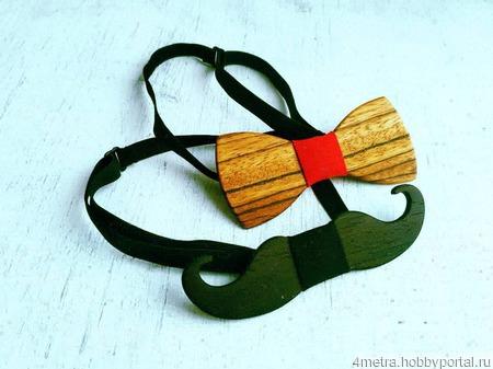 Галстук бабочка из дерева ручной работы на заказ