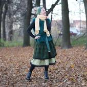 Шерстяная теплая юбка зимняя