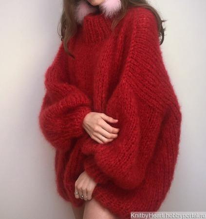 Вязаный свитер оверсайз ручной работы в Москве ручной работы на заказ