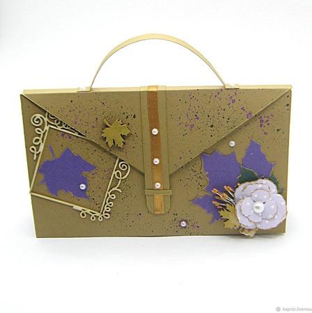 """Открытка """"Осенняя сумочка"""" ручной работы на заказ"""