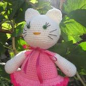 фото: Куклы и игрушки (вязаная кошка игрушка)