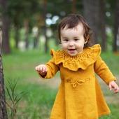 """Мастер класс вязаное платье для девочки """"Платье с воланом"""""""