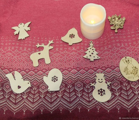 Новогодняя игрушка/заготовка из фанеры ручной работы на заказ