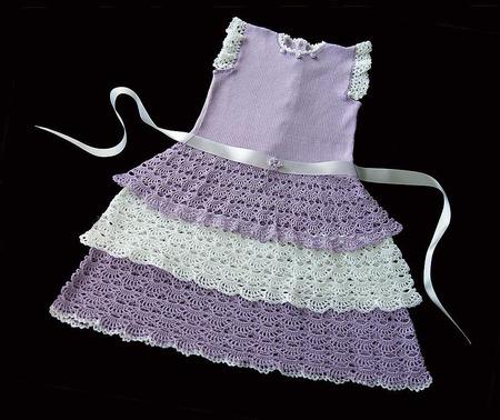 """Платье для девочки """"Сиреневое облако"""" ручной работы на заказ"""