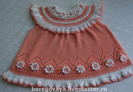 """Платье для девочки """"Цветок"""" ручной работы на заказ"""
