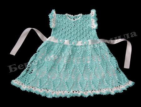 """Платье для девочки """"Льдинка"""" ручной работы на заказ"""