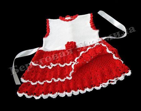 """Платье для девочки """"Кокетка"""" ручной работы на заказ"""
