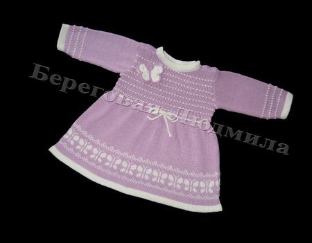 """Платье для девочки """"Бабочки"""" ручной работы на заказ"""