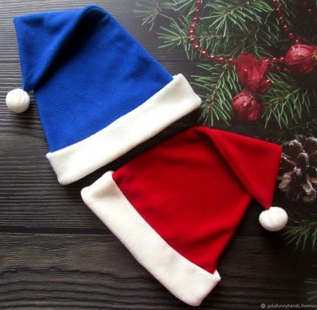 Именные новогодние шапки ручной работы на заказ