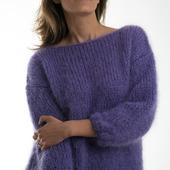 Стильный свитер из кид мохера ручной работы во Владивостоке