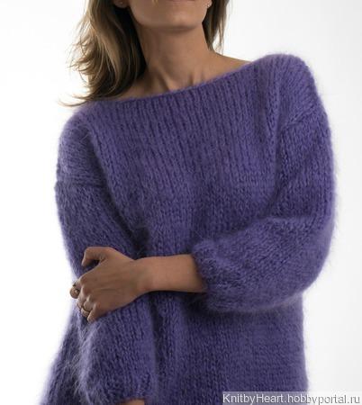 Стильный свитер из кид мохера ручной работы во Владивостоке ручной работы на заказ