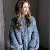 Вязаный свитер из мохера ручной работы в Москве