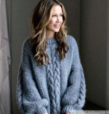 Вязаный свитер из мохера ручной работы в Москве ручной работы на заказ