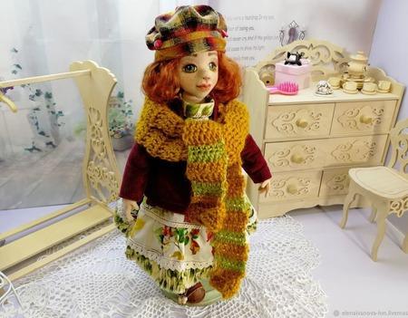 Кукла Карина, осенний огонёк ручной работы на заказ
