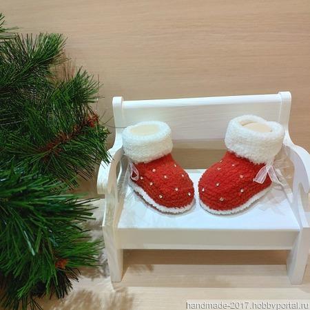 Пинетки детские новогодние ручной работы на заказ