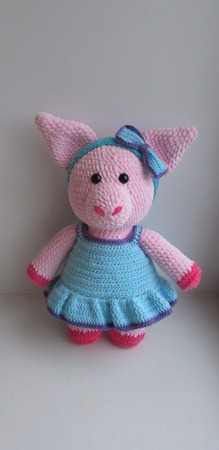 Свинка вязаная ручной работы на заказ