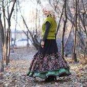 Теплая юбка в стиле бохо зимняя