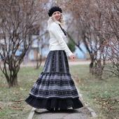 Бохо юбка теплая на зиму