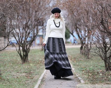 Бохо юбка теплая на зиму ручной работы на заказ