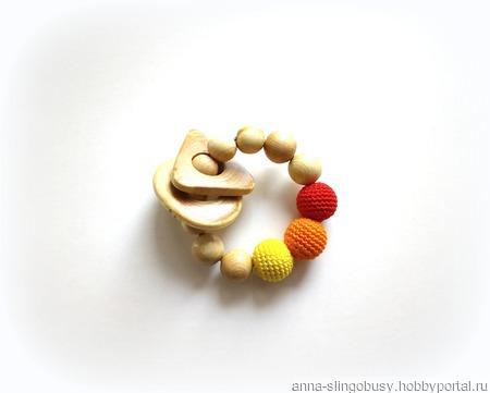 Грызунок в форме браслетика ручной работы на заказ