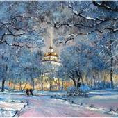 "Картина ""Адмиралтейство зимой"""