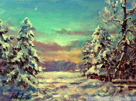 "Картина ""Зимушка-зима"" ручной работы на заказ"