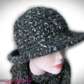 Шляпа вязаная тёплая