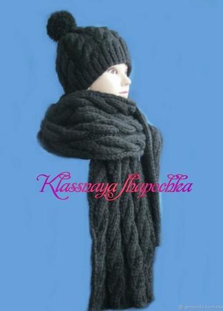Комплект шапка и шарф ручной работы на заказ