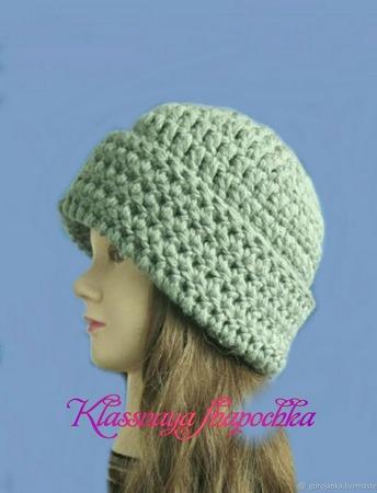 Вязаная шапка, 4 варианта в одной модели ручной работы на заказ