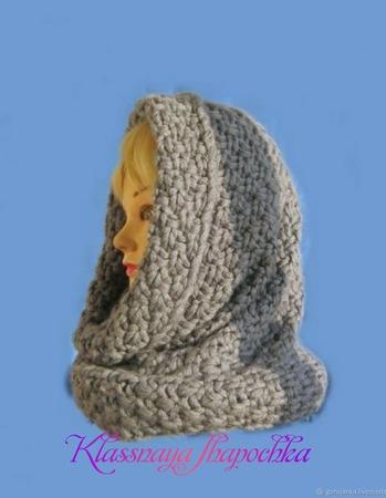 Вязаный снуд, шарф ручной работы на заказ