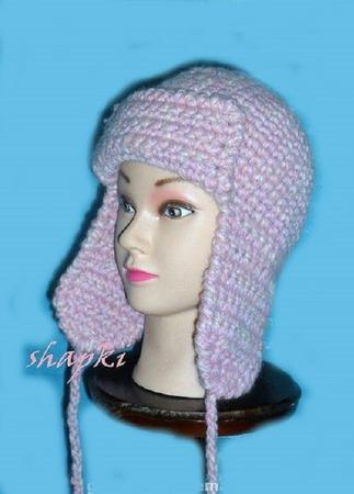 Вязаная шапка-ушанка ручной работы на заказ