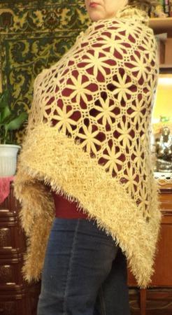 Ажурная шаль ручной работы на заказ