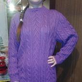 Женский удлиненный свитер-туника