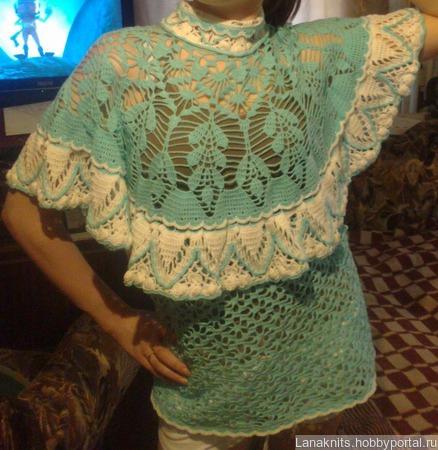 Блузка с кокеткой ручной работы на заказ