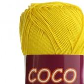 Пряжа Coco 3895 - салатово-желтый