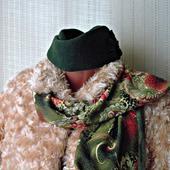 """Зеленый палантин ручной работы из ткани """"Зеленая фея"""" модель 2"""