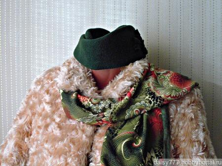 """Зеленый палантин ручной работы из ткани """"Зеленая фея"""" модель 2 ручной работы на заказ"""
