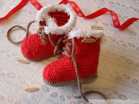 """Ботиночки """"Christmas"""" ручной работы на заказ"""